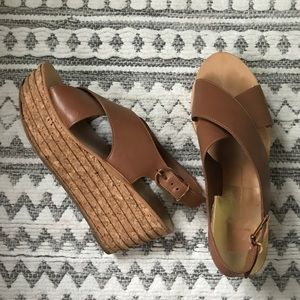 Dolce Vita Shoes - Dolce Vita Grooved Cork Maize Wedges, Like New
